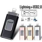 3 IN 1 USB Flash Drive 64 to 512GB OTG Disk Storage Memory Stick For IOS Andriod