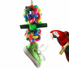 Parrot Pets Bird Chew Cages Hang Toys Wood Large Rope Cave Ladder Bells Toy Sale