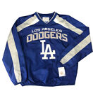 Los Angeles Dodgers Mens Jacket V-Neck GIII Pullover Windbreaker Blue on Ebay