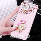 Bling Luxury Diamonds Glitter Ring Holder stand Soft Cover Case & neck strap #22