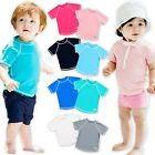 "Vaenait baby Infant Kids Boy Short Sleeve UPF 50+ Rashguard ""Oasis Shirt"" 6M-3T"