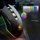 Ergonomic LED Multicolor Backlight One-Handed Gaming Keyboard +Gaming Mouse Mice