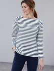Joules Matilde Ladies Square Neck Jersey Top  Colour Cream Navy Stripe