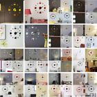 64 Types 3D DIY Roman Numbers Acrylic Mirror Wall Sticker Clock Mural Decals