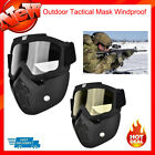 Outdoor Tactical Full Face Mask Goggles Shock Resistance Safety Anti-fog Mask