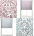 Damask Roller Blind Window Blinds Trimmable Home Furnishing Easy Fit Curtains