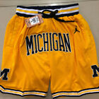 Michigan Wolverines NBA Basketball Shorts Men's Pants NWT Stitched on eBay