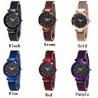 US Women's Starry Sky Quartz Watch Magnet Stainless Steel Strap Band Best Gift image