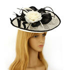 Ladies Feather & Flower Mesh Hat Fascinators Party Wedding Night Accessories