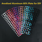 For GH60 Mechanical Keyboard Pcb Anodized Aluminum Plate Universal ANSI Frame