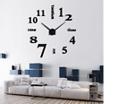 Creative Wall Clock Watch Large mirror effect home decoration 3D Roman Numeral