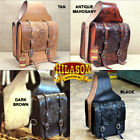 12 X 11 X 3.5 In Horse Western Saddle Bag Leather Cowboy Trail Hilason U-MAIN