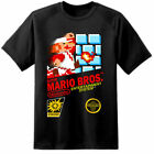 NEW RARE !! Super Mario Brothers Retro NES Game Cover T Shirt Nintendo