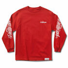 Diamond Supply Co. Men's Diamond Giant Script Long Sleeve T Shirt Red Clothing