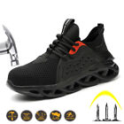 Steel Toe Work Safety Shoes Womens Lightweight Sport Sneakers Casual Breathable