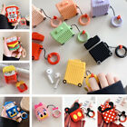3D Cartoon Fries Bear Earphone Airpods Charge Case Cover For Airpod 1 2 + Ring $6.99  on eBay