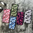 Fashion Bape Camo Print Silicone Case for iPhone 7 / 8 Plus / X / XR / Xs Max