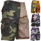 Two Tone Camo Cargo Shorts Military Fatigues Army Tactical BDU 6-Pocket