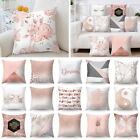 Pink Polyester Pillow Case Sofa Car Waist Throw Cushion Cover Home Decoration