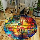 Modern Round Musical Notes Colourful Rug/Carpet