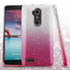For ZTE Zmax Pro Glitter Hybrid Shockproof Impact Armor Protector Case Cover