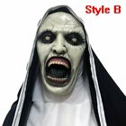 The Nun Horror Mask Costume Valak Party Halloween Cosplay Scary Masks Headscarf