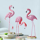 Resin Flamingo Bird Decorative Ornament Indoor Pink Home Room Desktop Statue New