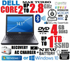 Custom Special! Dell Core 2 Laptop 🚩1tb Sshd 🚩4gb Ram 🚩wifi🚩 Win 7 10 Pro