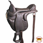 Horse English Treeless Saddle Hilason Endurance Trail Pleasure Leather U-E106