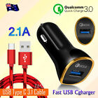 Nokia 6.1 7 Plus 7.1 8.1 9 Pureview Fast Charging USB Type C Cable Car Charger