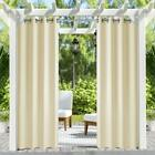 Outdoor/Indoor Privacy Drape Thick Waterproof Curtain with Grommets L Beige
