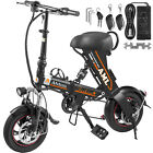 "12"" 250W Folding Electric Bike 36V8AH Battery 22Mph Speed 22Miles Range W/Basket <br/> remote control and 4 colors to choose⭐⭐⭐⭐⭐"