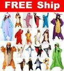 Hot Unisex Adult Pajamas Kigurumi Cosplay Costume Animal Sleepwear Suit