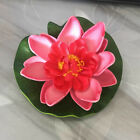 1pc Artificial Lotus Home Water Lily Floating Flower Pond Fish Tank Plant Decor