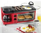 3 in 1 Breakfast Cooker Toaster Oven Griddle Coffee Maker Station photo