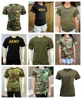 Mens Womens Kids Teens Army Training Gym Outdoor Running Casual T-SHIRT Tee Tank image