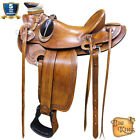 15 16 17 in Western Horse Wade Saddle Leather Ranch Roping Walnut U-LRID