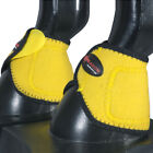 Hilason Western Horse Leg Protection No Turn Bell Boots Yellow Black U-WBLK