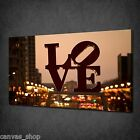 LOVE SIGN IN PHILADELPHIA MODERN CANVAS PRINT WALL ART PICTURE READY TO HANG