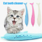 Silicone Fish Shape Cat Toothbrush Teething Toy with Catnip Pet Toys 170 x 25mm