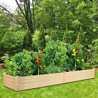 Outdoor Patio Wooden Raised Garden Bed Elevated Planter Flower Box Nature Wooden
