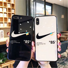 Off white x Nike Iphone case IPhone 6/6s/7/8/plus/x/xr/xs/xsmax Hard glass cover