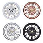 Retro Clock Wall Diner Vintage Home Office Analogue Dining Room Decorative