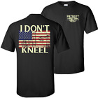 I Don t Kneel Flag Shirt Support American Usa Military America Dont Tread On Me