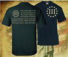 THREE PERCENTER PATRIOT APPAREL USA T-SHIRT MOLON LABE 2ND AMENDMENT 3 PERCENT image