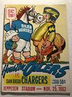 1962 SAN DIEGO CHARGERS vs HOUSTON OILERS Jeppesen Stadium AFL GEORGE BLANDA $33.99 USD on eBay