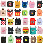 3D Q Cartoon Earphone Protective Silicone Cover For Apple Airpods Charging Case $5.28  on eBay