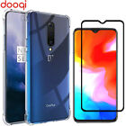 For OnePlus 5/5T/6/6T/7/7 Pro Shockproof Crystal Clear Case Cover+Tempered Glass