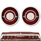 64 Chevy Impala Red Clear LED Rear Back Up Reverse Light Lens Assembly Pair 1964