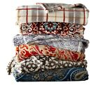 """Throw Blanket Reversible 60"""" x 70"""" Lounge Snuggly Large Super Soft 2 Layer Cover image"""